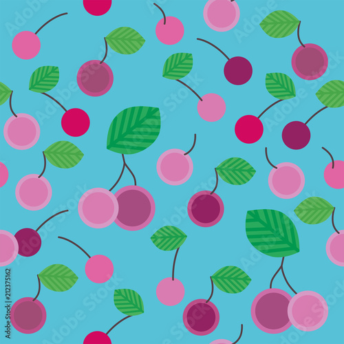 Seamless pattern with cherry - 212375162