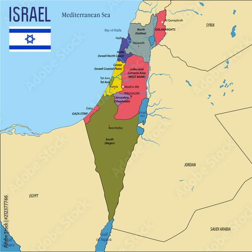 Fototapeta Israel map