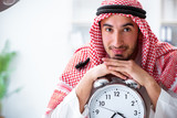 Arab businessman working in the office - 212381989