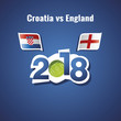 Croatia vs England flags soccer blue background - 212386731
