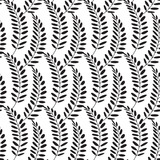 Floral pattern. Leaves texture. Stylish abstract vector plant ornamental background - 212394965