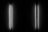 Detail of a fluorescent light tube mounted on a wall - 212398149