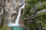 Savica waterfall near lake Bohinj, Triglav National Park, Slovenia