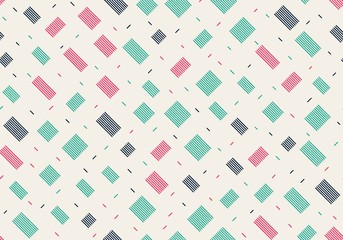 Seamless pattern with small rectangles with lines. Repeating vector pattern.