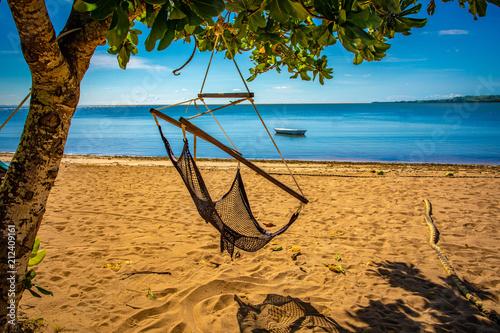 Fotobehang Tropical strand Beach swing