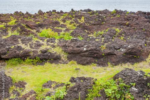 火山噴火の痕跡、静岡県伊東市城ケ崎海岸いがいが根にて