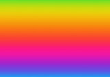 Horizontal abstract background with rainbow gradient. Design template of flyer, banner, cover, poster in A4 size. Vibrant color vector illustration. - 212420919