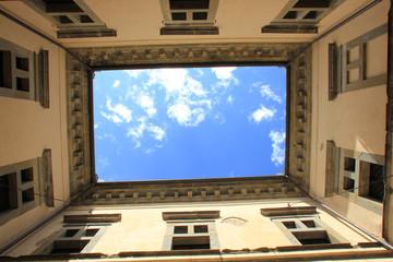 Monte San Savino, interno del palazzo di Monte