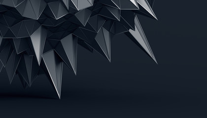 Abstract 3d rendering of geometric surface. Modern polygonal background design for poster, cover, branding, banner, placard. © VAlex