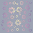 Multicolored flowers with neutral background in pastel colors. - 212460760