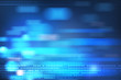 Leinwanddruck Bild -  blue blurry dots background