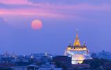 Golden Mountain at Wat Saket Temple in Bangkok,Thailand