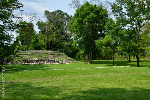 Foto Murales Palenque, Chiapas, United Mexican States - may 17 2018 : pre Columbian Maya site Palenque