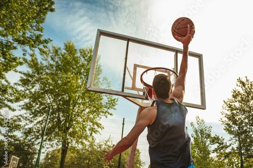 Fotobehang Basketbal Free Jump Shot