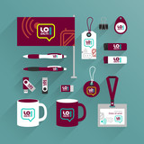 Corporate identity template and promotional gifts - 212487176