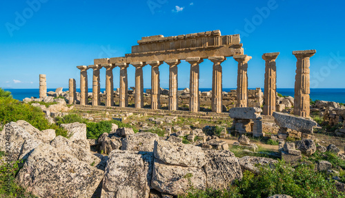 Ruins in Selinunte, archaeological site and ancient greek town in Sicily, Italy.