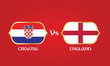 England versus Croatia soccer semi final match. - 212488754