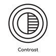 Contrast icon vector sign and symbol isolated on white background, Contrast logo concept
