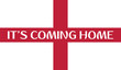 England flag national flag soccer emblem with football phrase Its coming home phrase