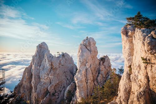 Aluminium Chocoladebruin Mountain range Ai-Petri, the Republic of Crimea.