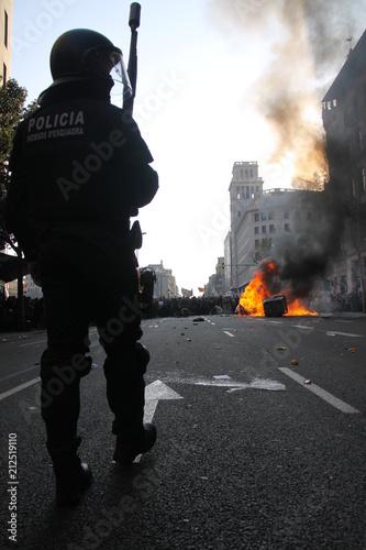 Aluminium Barcelona Huelga general de Barcelona 29M 2012