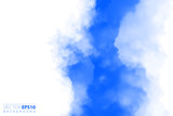 Vector illustration of light clouds in blue sky. Abstract backdrop with realistic cloud motif. - 212524526