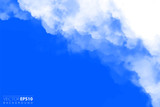 Vector illustration of light clouds in blue sky. Abstract backdrop with realistic cloud motif. - 212524551