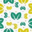 Seamless leaf pattern fullcolor vector. - 212527726