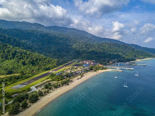 Foto Spatwand Groen blauw Pulau tioman drone