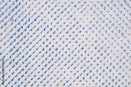 blue crayon pattern on white paper background texture - 212533192