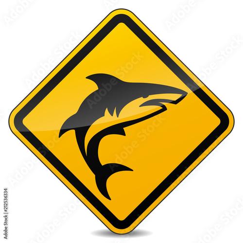Fototapeta shark sign on white background