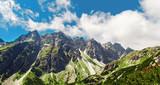 Mountain panoramic landscape High tatras mountains Slovakia