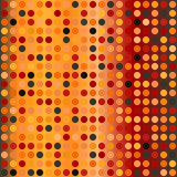 Glowing polka dot pattern. Seamless vector background - 212538733