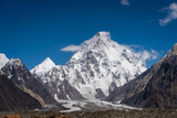 Fototapeta Krajobraz - K2 mountain peak, second highest mountain peak in the world, K2 trek, Pakistan © skazzjy