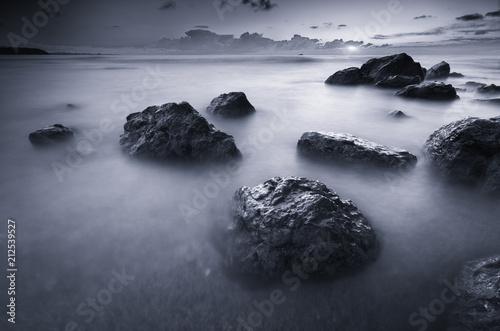 Fotobehang Zomer Beautiful monochrome seascape.