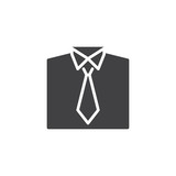 Shirt and tie vector icon. filled flat sign for mobile concept and web design. Office Uniform simple solid icon. Symbol, logo illustration. Pixel perfect vector graphics - 212545538