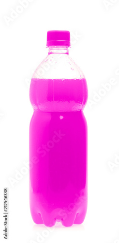 A bottle with tasty drink isolated on background - 212546338