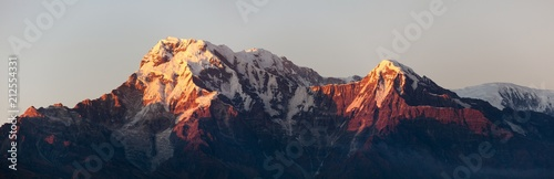 mount Annapurna, evening sunset view - 212554331