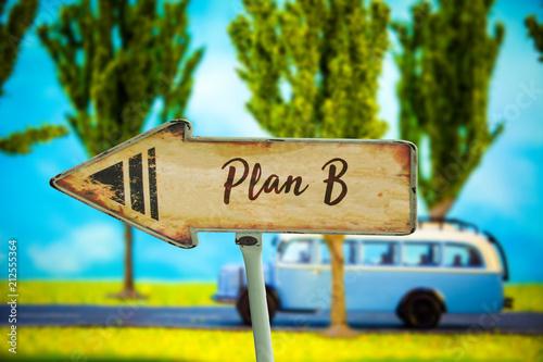 Schild 321 - Plan B