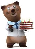 Fun bear - 3D Illustration - 212559180