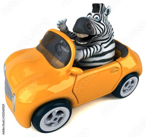 Fototapeta Fun zebra - 3D Illustration