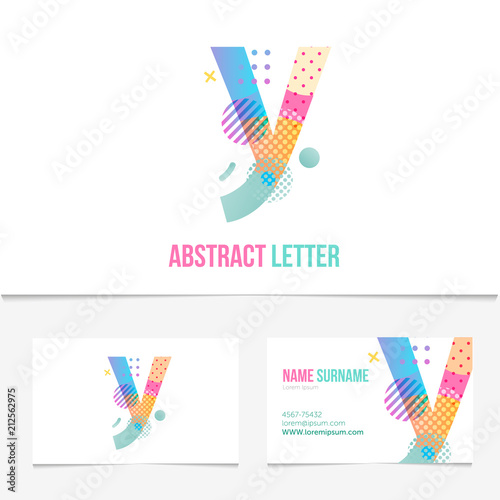 Creative Abstract Letter Y Design Vector Template On The Business