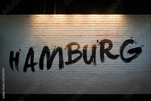 Hamburg concept graffiti on wall  - 212567135