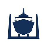 Ship in dry dock icon - 212571107
