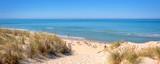 Panorama of the dune and the beach of Lacanau, atlantic ocean, France - 212573329