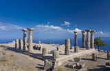 Temple of Athena in Assos, Canakkale, Turkey - 212589100