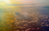 Sky and cloud formations seen from the plane © hibrida
