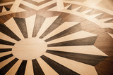 Old parquet with classical retro pattern - 212599355