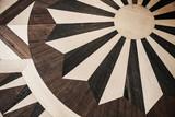 Vintage brown wooden parquet texture - 212599386