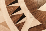 Old parquet with classical pattern - 212599391